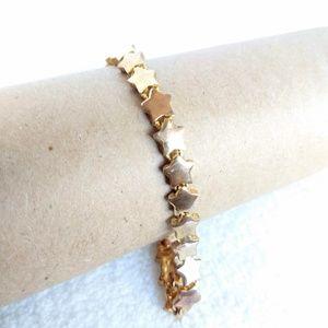 Vintage gold stars tennis bracelet